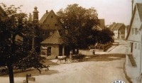 004f-Lindenplatz-mit-Wachthäusel-1925